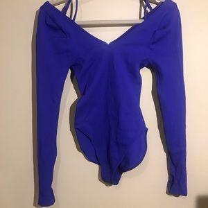 FREE PEOPLE MOVEMENT blue bodysuit XS/S